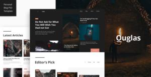 Outglas - A Personal Blog PSD Template