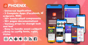 Phoenix-Full multi-usages REACT-Native application and UI Component
