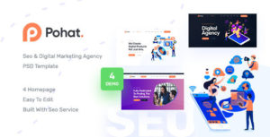 Pohat - SEO & Digital Marketing Agency PSD Template