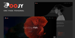 Poojy - One Page Personal Portfolio Template