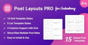 Post layouts Pro pour Gutenberg