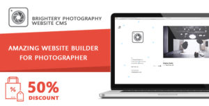 Professional Photographer cms - for Photography portfolio by brightery