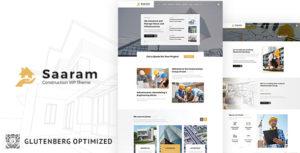 Saaram Construction - Builder, Construction WordPress Theme