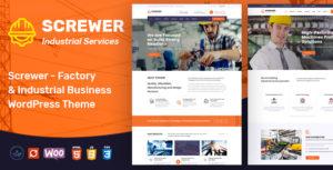 Screwer - Factory & Industrial Business WordPress Theme