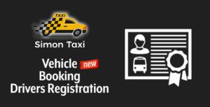 Simontaxi – immatriculation des conducteurs de réservation de véhicule