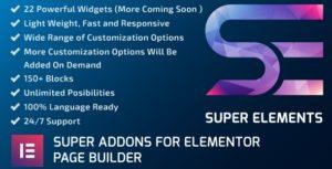 Super Elements-addons pour Elementor
