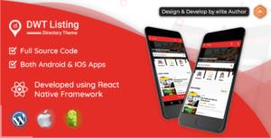 TPL ordre - annuaire & liste React application Native
