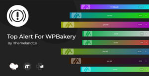 Top Alert pour WPBakery Page Builder (Visual composer)