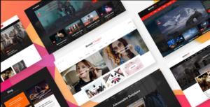 VidTube - Video Blog & Personal Vlog PSD Template