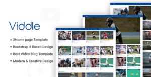 Viddle - Video Blog PSD Template