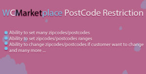 Wcmarketplace restriction de code postal