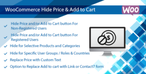 WooCommerce Hide Price Plugin, Hide Add to Cart Button & Price by User Role