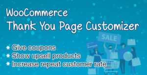 WooCommerce Merci page Customizer-augmenter le taux de rétention des clients-Boost Sales