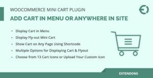 WooCommerce Mini panier Plugin, ajouter panier dans le Menu ou n'importe où dans le Site