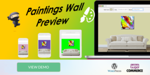 WooCommerce Paintings Wall Preview - Popup -