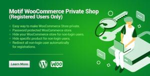 WooCommerce Private Shop | Magasin d'utilisateurs enregistrés