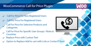 WooCommerce appel pour le plugin de prix-appel à la commande