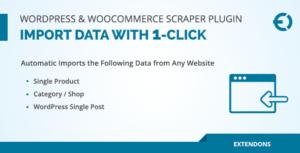 WordPress & WooCommerce Scraper plugin, importer des données à partir de n'importe quel site