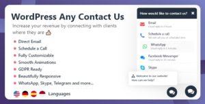 WordPress tout nous contacter
