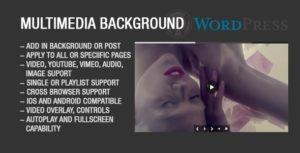 Wordpress Plugin arrière-plan multimédia