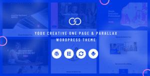 Yoox -  Creative One Page & Parallax WordPress Theme