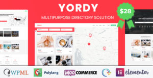 Yordy - Multipurpose Directory Listings WordPress Theme