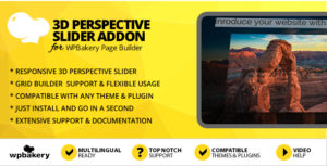 3D Perspective Slider Addon for WPBakery Page Builder (formerly Visual Composer)