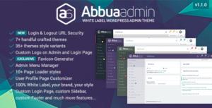 ABBUA Admin WordPress Theme