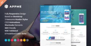 AppMe - App Landing Page WordPress Theme