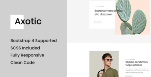 Axotic - Responsive Blog Site Template