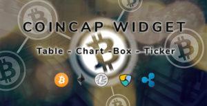 CoinCap Widget - Cryptocurrency WordPress Plugin