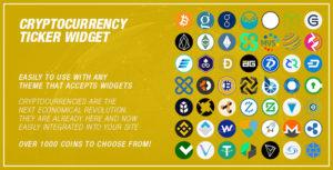 Cryptocurrency Ticker Widget