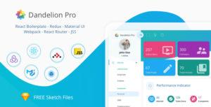 Dandelion Pro - React Admin Dashboard Template