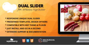 Dual Slider Addon for WPBakery Page Builder (formerly Visual Composer)