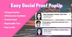 Easy Social Proof Popup