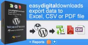 EasyDigitalDownloads Export