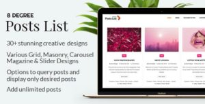 Eight Degree Posts List Pro - Easy-To-Use Posts Listing Plugin For WordPress