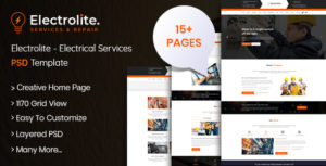 Electrolite - Electrical Services PSD Template