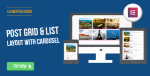 Elementor Page Builder - Post Grid/List Layout with Carousel