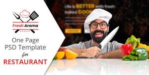 Fresh Aroma PSD Template for Restaurants