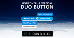 Fusion Builder Horizontal & Vertical Duo Button Element Add-on for Avada v5