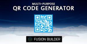 Fusion Builder Multi-Purpose QR Code Generator Element Addon for Avada v5