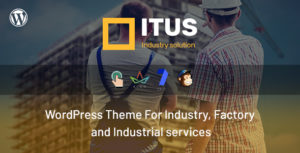 Itus - Industrial Manufacturing WordPress Theme