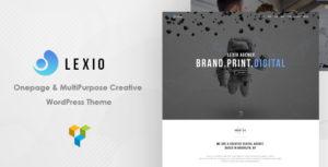 Lexio - Onepage Creative WP Theme