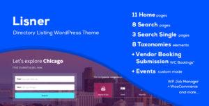 Lisner - Modern Directory Listing WordPress Theme