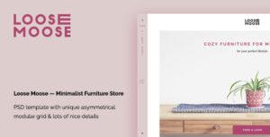 Loose Moose — Minimalist Furniture Store PSD Template