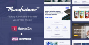 Manufacturer WP - Factory, Plant, Industrial Business & Manufacturing WordPress Theme