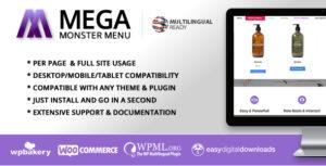 Mega Menu Monster - WordPress Mega Menu Plugin