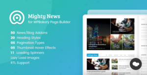 Mighty News Addons for WPBakery Page Builder (formerly Visual Composer)