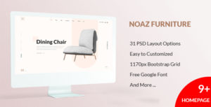 NOAZ – Furniture Ecommerce PSD Template